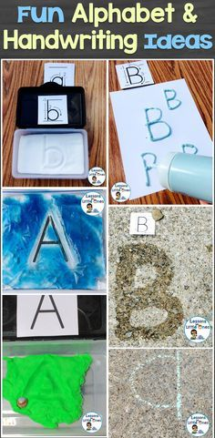 Ideas for motivational and fun alphabet and handwriting practice for young students.