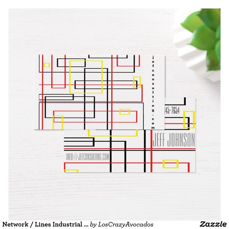 Network / Lines Industrial Pattern Business Card