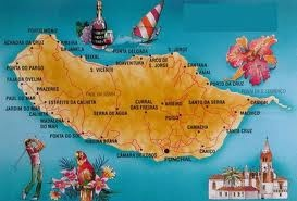 The map of Madeira.