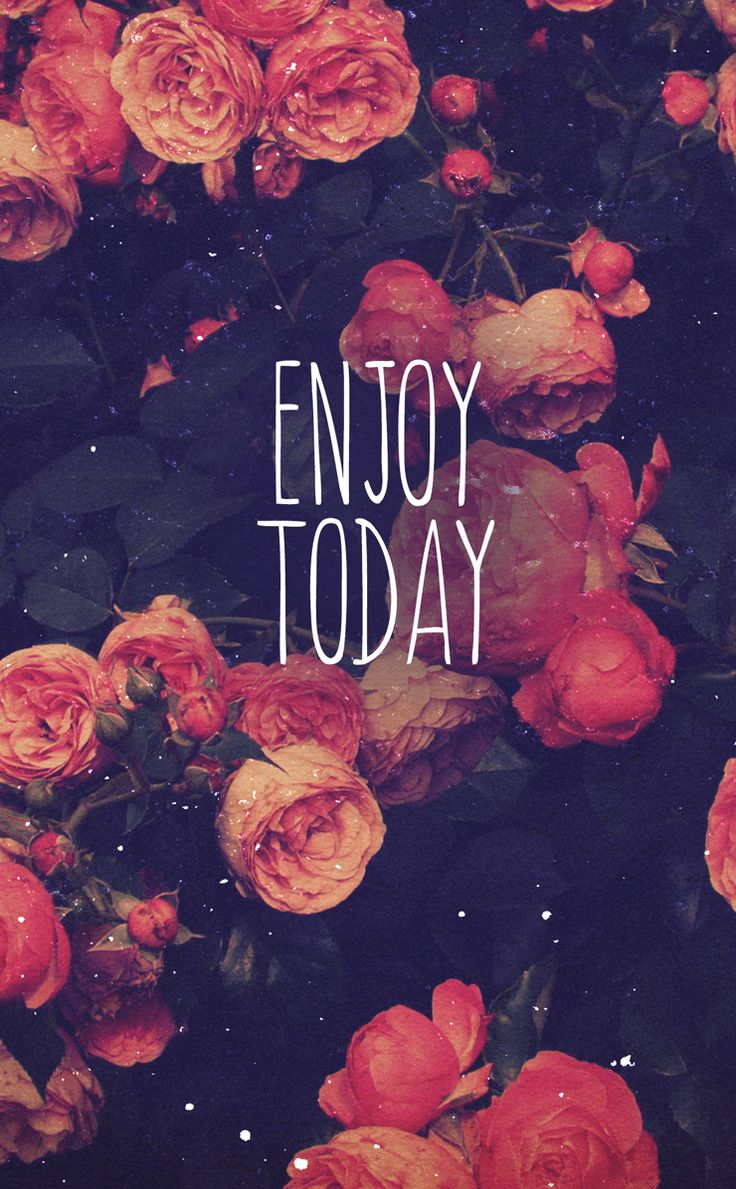 Enjoy, Floral, Picture, Quote
