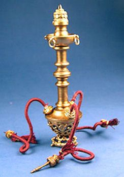 "Miniature hookah -  $180 - By Mike Barbour -  2 3/4"" tall"
