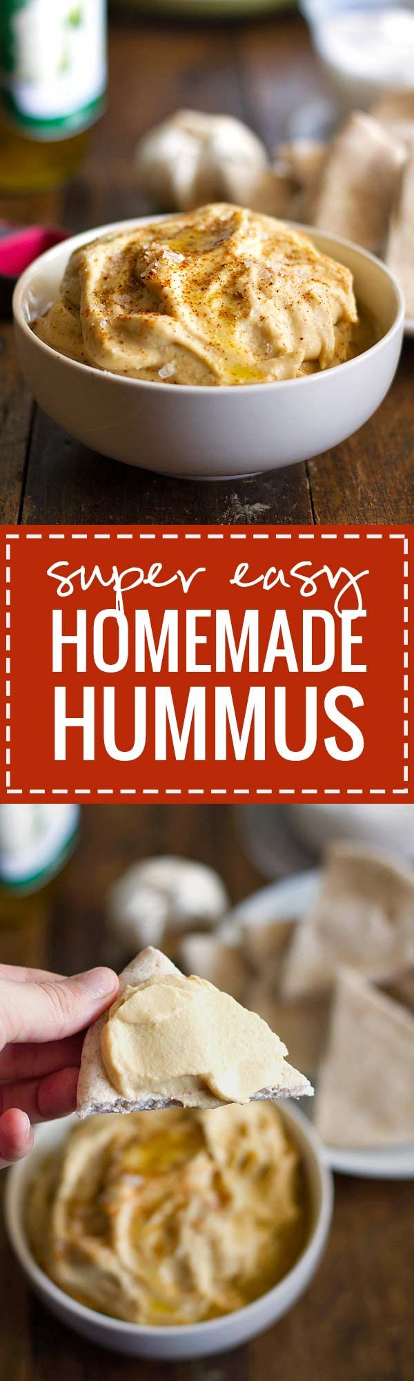 Super Easy Homemade Hummus - This hummus is simple and blended with fresh ingredients | pinchofyum.com