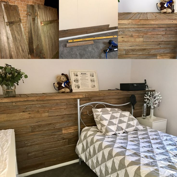 Feature wall from #reclaimedtimber hardwood fence. #upcycling