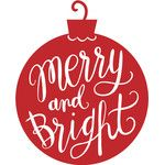 merry and bright ornament