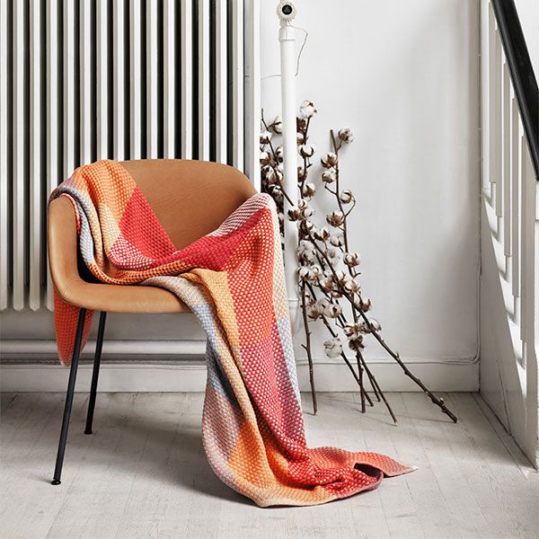 the new scandi - Loom-tangerine fibre chair mid century