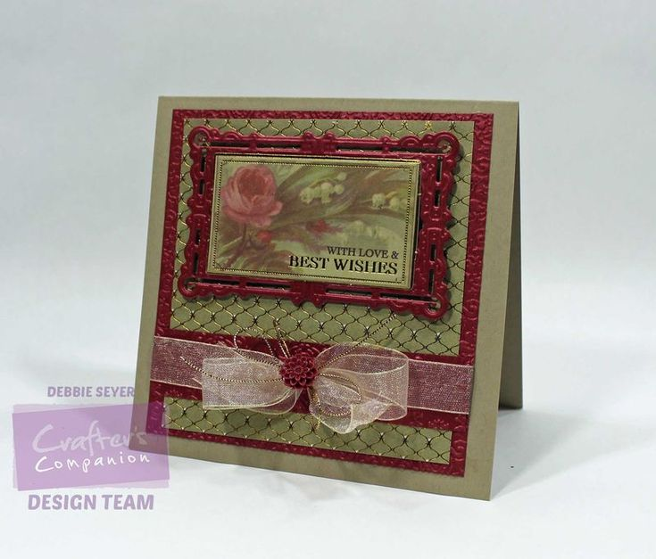 Best wishes and love card using the Downton Abbey Collection from @CraftersCompUS