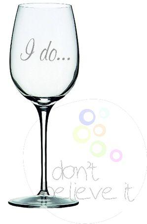 Ποτήρι Κρασιού με Χάραξη