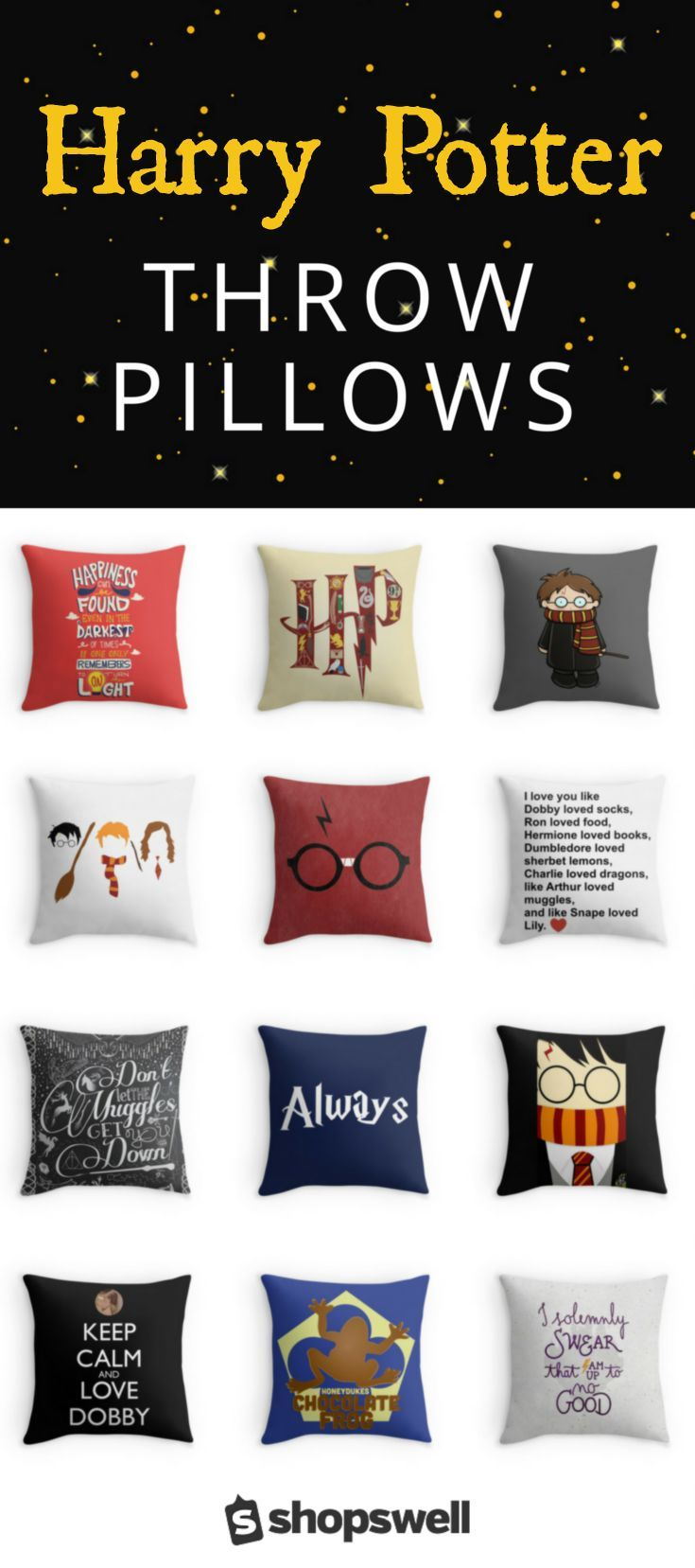 Best 25 harry potter pillow ideas on pinterest harry for Harry potter home decorations
