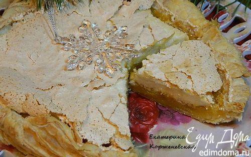 Слоеный апельсиновый пирог с безе | Кулинарные рецепты от «Едим дома!»
