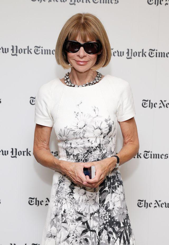 Анна Винтур на вечере газеты The New York Times в Нью-Йорке
