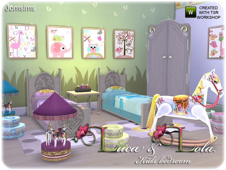 1000 Images About Chambre Enfant Sims 4 On Pinterest