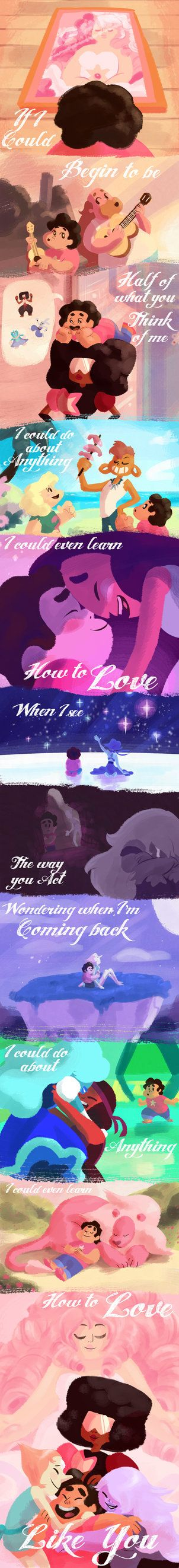 I love how Steven Universe revolves around all kinds of love, especially that which Steven gives and receives. Such a sweet little show. When I heard the lyrics to the end credits song, I had to do...