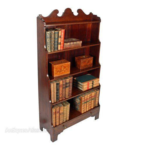 Antique Open Bookcases Georgian Style Bookshelves
