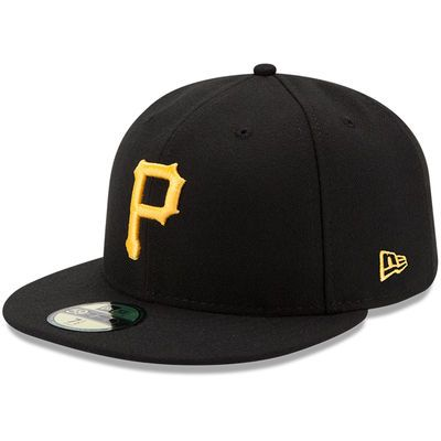 Pittsburgh Pirates New Era Youth Authentic Collection On-Field Game 59FIFTY Fitted Hat - Black