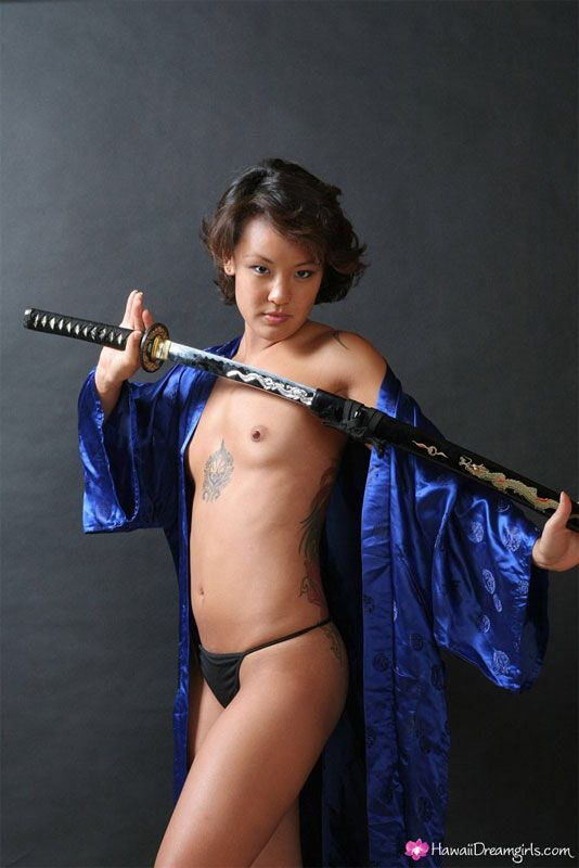 Naked Asian Woman With Sword