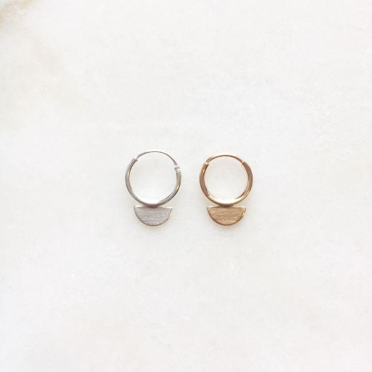 Scale earrings | Handmade jewellery | 14k gold filled & sterling silver