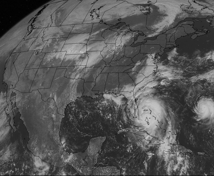 """Hurricane Matthew as seen from GoesEast satellite.  See it's current path by clicking on Earth Views at the bottom of this page:""""http://www.angelfire.com/scifi/atari/WebCam/WebCamCOM.html"""""""