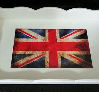 Arte lá em casa: bandeira da Inglaterra
