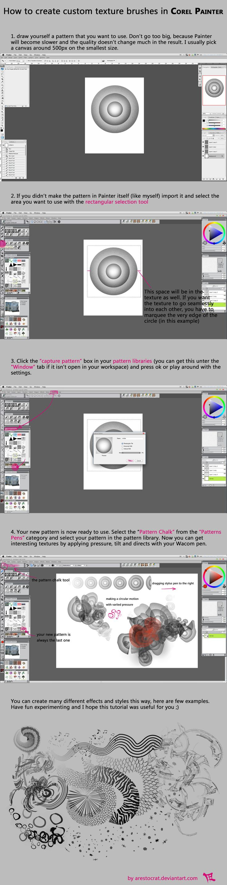 Corel Painter: How To Create A Pattern Brush By Arestocrat