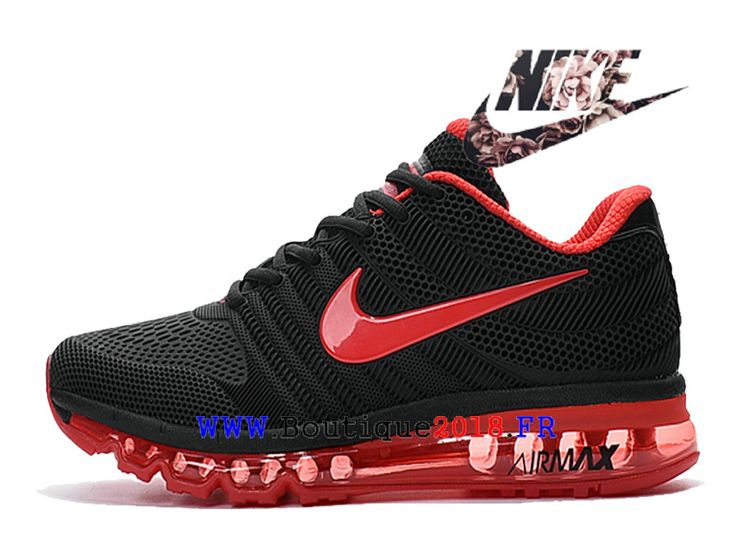Boutique Nike Air Max 2017 Chaussures Nike Moins cher Running Pas Cher Pour Femme Noir / rouge