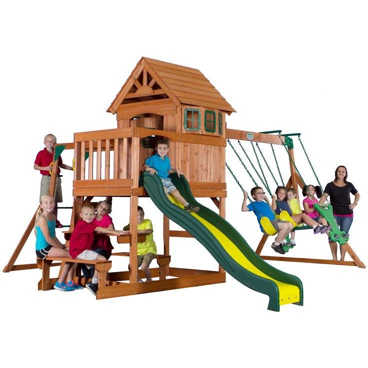 Backyard Discovery 40014 Springboro All Cedar Swing Set ...