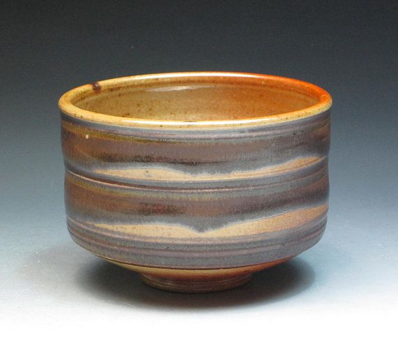 Jane Hamlyn Salt Fired Stoneware Teabowl Studio Pottery Teabowl British Pottery Stoneware