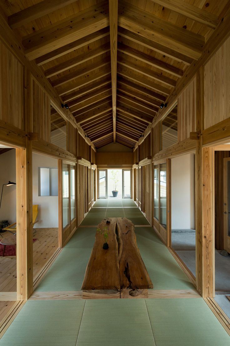Traditional Japanese floor mats define the proportions of this house in Niigata