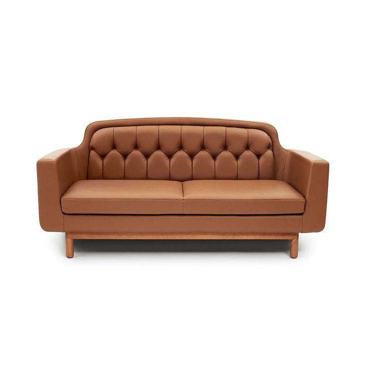 Onkel Couch 2 Sørensen/Leather, Brown - Simon Legald - Normann Copenhagen - RoyalDesign.com