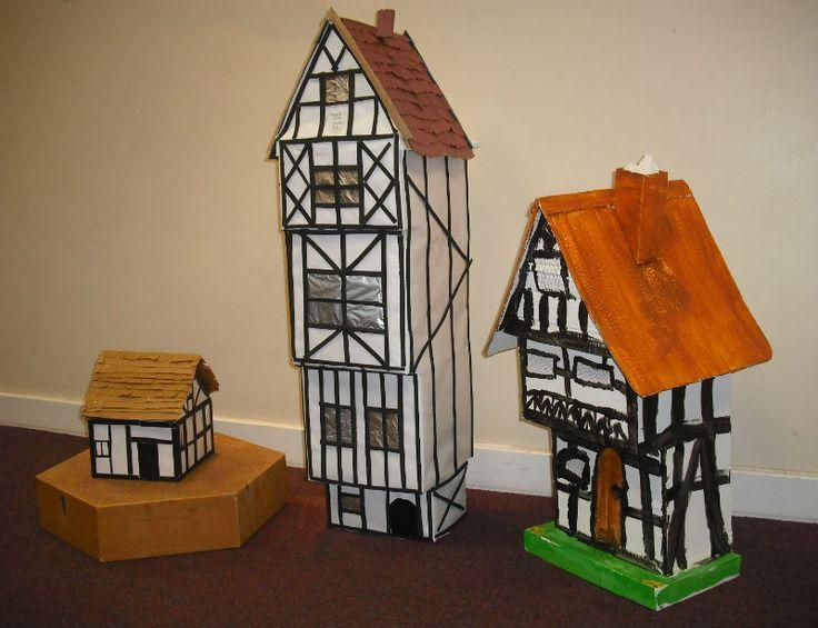 make a tudor houses ks1 - Google Search