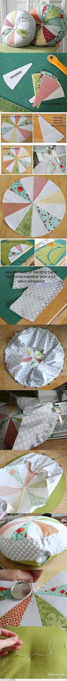 制作圆靠垫的详细教程。