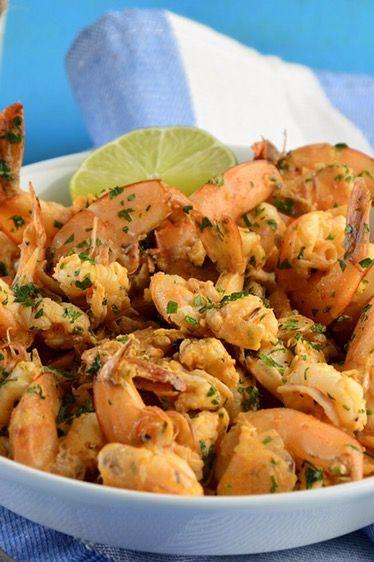 Mexican Shrimp in Spicy Garlic Sauce  Camarones al Mojo de Ajo en Salsa Picante  Easy to make and delicious! #foodie #mexicanfood #blogger #yum