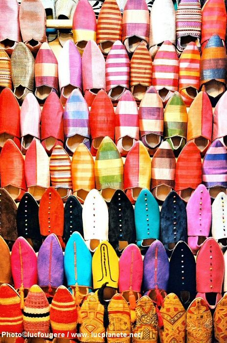I want to buy shoes in a souk in Marrakech.