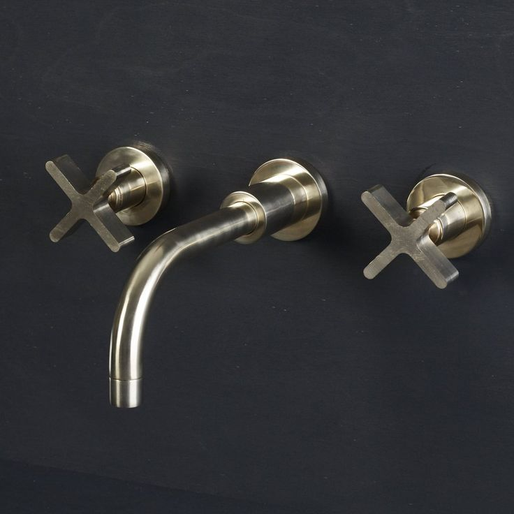 Wall Mounted Basin Taps and Spout with Cross – Bert & May