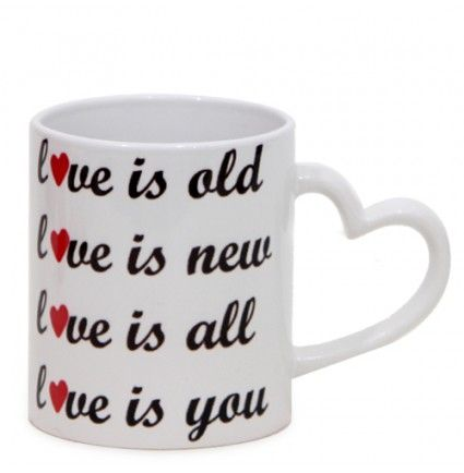Enjoy the blissful aroma of coffee with a romantic zest in this lovable mug. Made up of ceramic, this 3 X 3.5 inches in size mug are durable and lasting. Adorned with a perfect romantic quote, it will make your special person feel wonderful on every sip of coffee or tea.