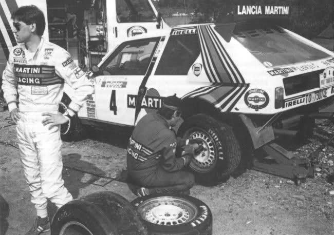 Henri Toivonen with his Lancia Delta S4.