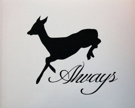 Snape's Doe Patronus Vinyl Decal on Etsy, $4.50