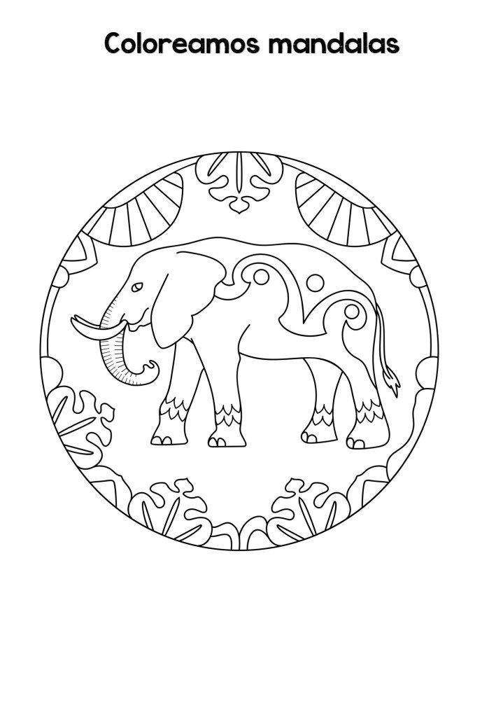 Mandalas De Animales Para Ninos Faciles Para Imprimir Y