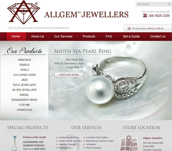 Using its patented technology, Exa has been able to highly rank Allgem Jewellers' website on all popular search engines, enabling the site to reach out to a high number of potential users.  With its new e-commerce site, Allgem Jewellers has been able to conduct business all over Australia through a centralised website and experience enhanced growth and business development.