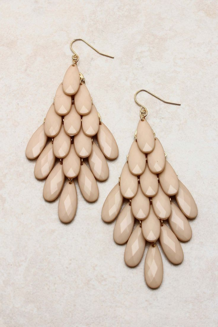 Nude Sedona Chandelier Earrings on Emma Stine Limited
