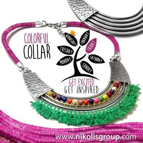 colorful collar necklace!find all the materials @www.nikolisgroup.com
