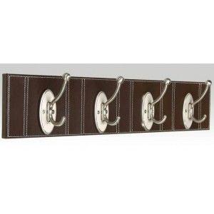 perchero de pared con cuatro ganchos realizado en polipiel y metal estos percheros originales los