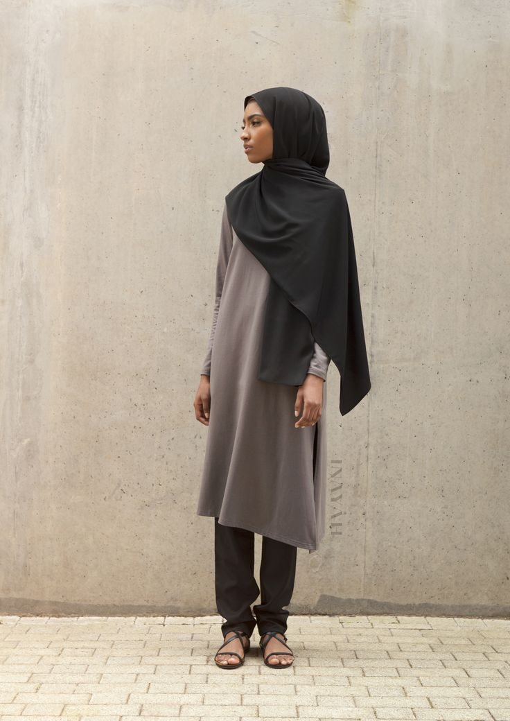 INAYAH   Midi Classics -  Charcoal #Asymmetric #Midi + Black Straight Leg…