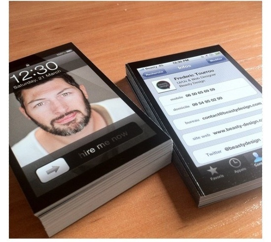 iphone namecard, good idea