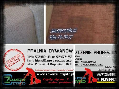 wizytówki karcher i pralnia  zawszeczysto.pl czysto.poznan.pl