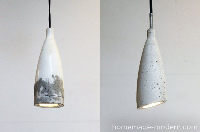 How to Make Your Own Designer Concrete Pendant Lamp