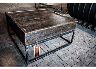 Deze prachtige salontafel van Ombre Design is exclusief en ambachtelijk gemaakt van oude vloerbalken | Ombre Design | Salontafel Rocher