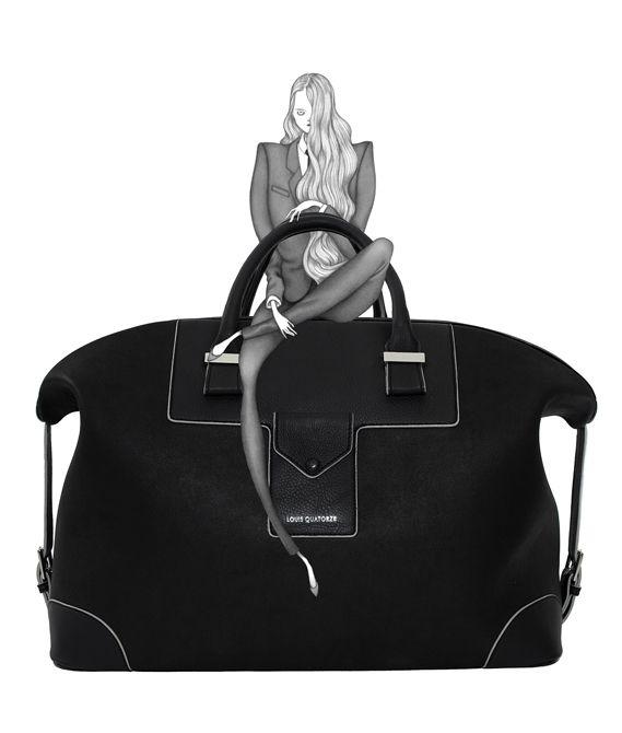 Louis Quatorze Paris Bag illustration by Laura Laine