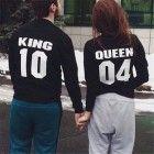 King Queen Couple Sweatshirts, unisex mens and womens Sweatshirts Size