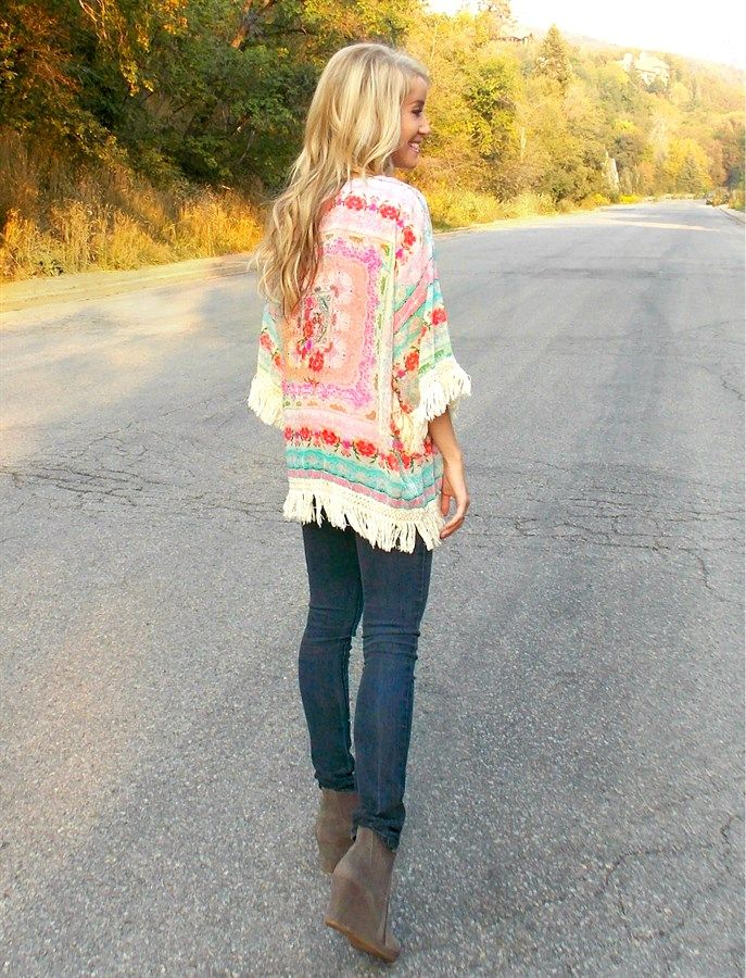 They're Back! Fall Fringe Layering Kimonos - 2 Styles!   Shop women's boutique clothing deals on Jane!