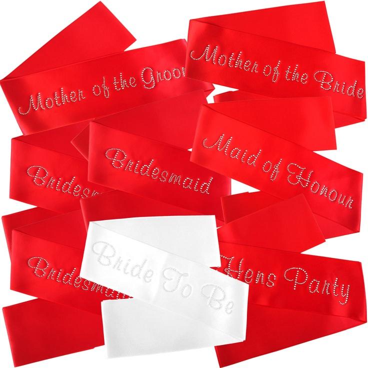 Bridal Party Satin Sash Set